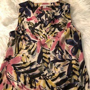 Banana Republic floral print silk blouse